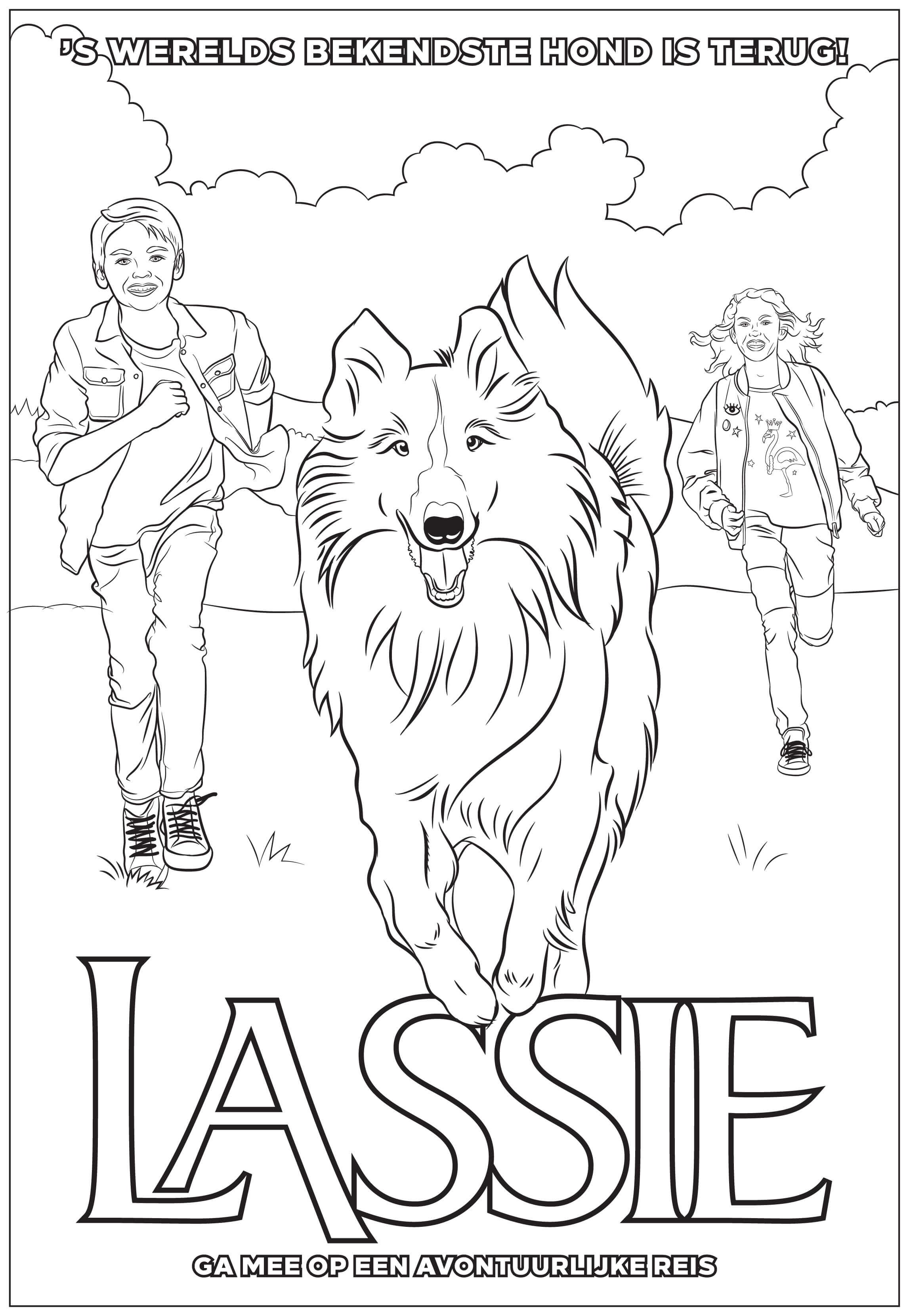 Kleurplaat Lassie