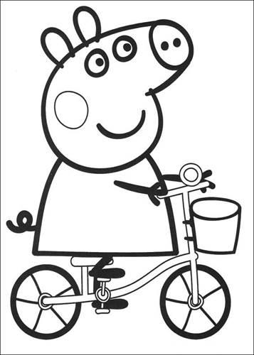 Kleurplaat Peppa Pig