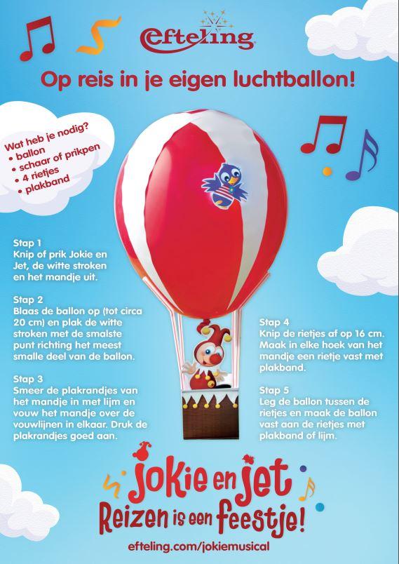 Jokie en Jet Knutsel Musical Luchtballon - Chassé Theater Breda