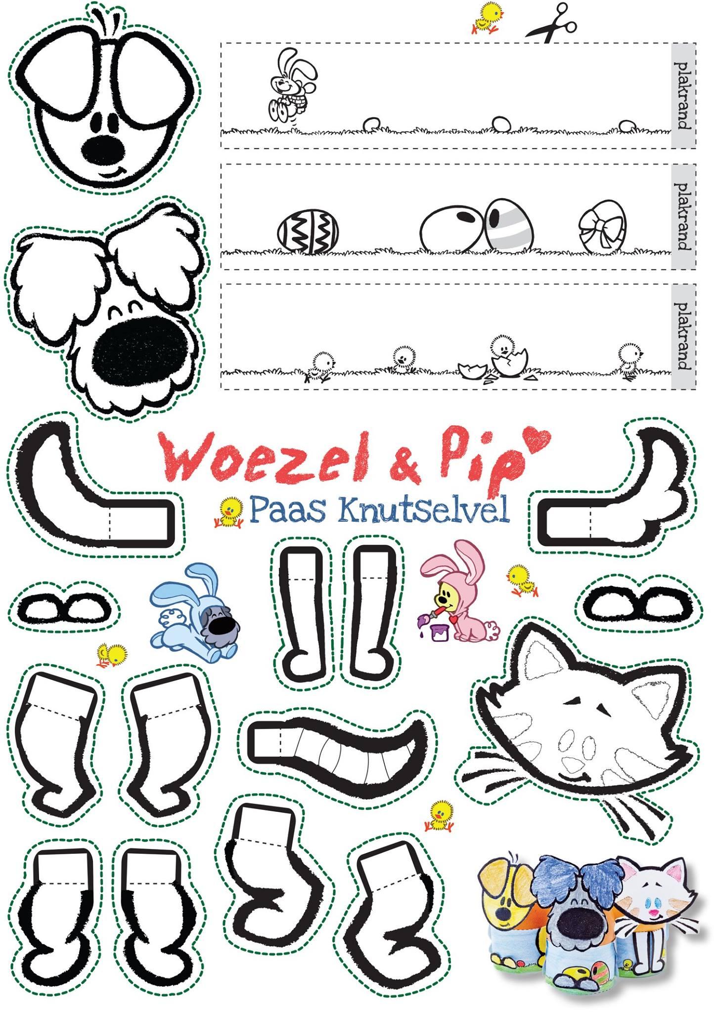 Paasknutselvel Woezel en Pip - Chasse Theater Breda