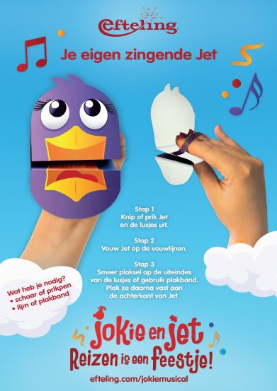 Jokie en Jet Musical Knutsel Je eigen zingende Jet - Chassé Theater Breda